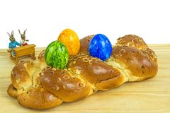 Braided easter yeast bun Stock Images
