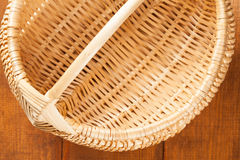 Braided empty basket Royalty Free Stock Photo