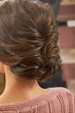 Braided female hairdo. Royalty Free Stock Photos