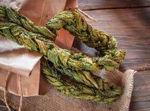 Braided ha asciugato le foglie dell'acetosa fotografia stock libera da diritti