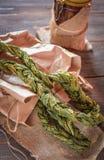 Braided ha asciugato le foglie dell'acetosa fotografia stock