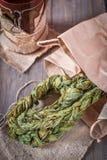 Braided ha asciugato le foglie dell'acetosa fotografie stock