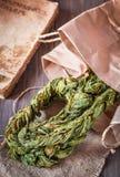 Braided ha asciugato le foglie dell'acetosa immagini stock
