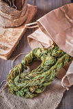 Braided ha asciugato le foglie dell'acetosa immagini stock libere da diritti