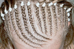 Braided hair Royalty Free Stock Images
