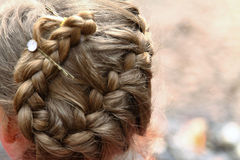 Braided hair style Stock Images