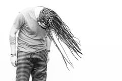 Braided Hair Young Man Royalty Free Stock Photography