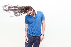 Braided hair young man Royalty Free Stock Photo