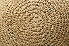 Braided hat. texture royalty free stock photos