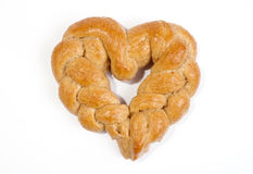 Braided heart Royalty Free Stock Images