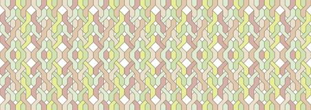 Braided horizontal pattern in vintage colors Stock Images