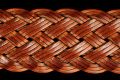 Braided Leather Belt Close-Up Royalty Free Stock Images