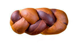 Braided loaf. On Isolated background stock photography