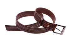 The braided man's leather belt Royalty Free Stock Image
