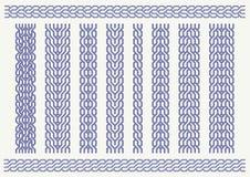 Braided patterns_set. Vector set of celtic pattern. Decorative border ornaments Royalty Free Stock Photo