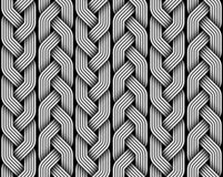 Braided pigtails fiber seamless pattern. Vector illustration. Braided pigtails fiber seamless pattern. Vector decorative illustration Stock Photos