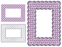 Braided rectangular border Royalty Free Stock Photo