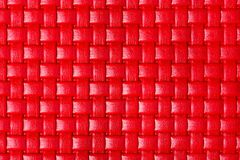 Braided red leather texture. High resolution photo stock photo