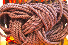 Braided rope. Bundling is a special pattern Royalty Free Stock Photography
