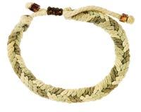Braided rope bracelet Royalty Free Stock Photography