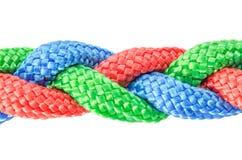 Braided ropes close up Stock Image