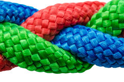 Braided ropes close up Stock Photography