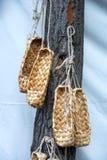 Braided sandals Stock Photos