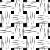 Braided seamless pattern. Black and white basket texture square image for background Royalty Free Stock Image