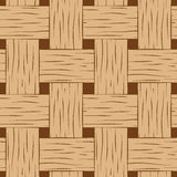 Braided seamless pattern. Brown and beige basket texture square image for background Royalty Free Stock Photography