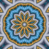 Braided star flower mandala Royalty Free Stock Images