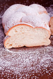 Braided sugared yeast bread Stock Images