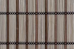 Sushi mat, made from bamboo sticks of different sizes. A braided sushi mat, made from bamboo sticks of different sizes Royalty Free Stock Image