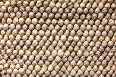 The braided texture of the rug.  Stock Photo