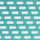 Braided weave pattern, blue background  Stock Images