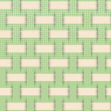 Braided weave pattern, green background  Stock Image