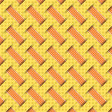 Braided weave pattern, yellow background  Stock Images