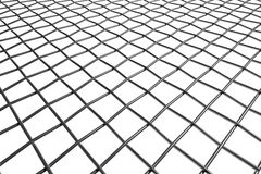 Braided wire steel net in perspective view Royalty Free Stock Image