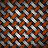 Braided Wood and Metal Background Stock Photos