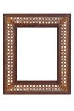 Braided wood photo frame on white background Royalty Free Stock Photography