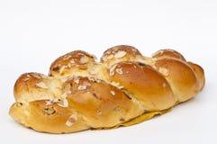 Braided yeast bun stock photos