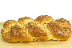 Braided yeast bun Royalty Free Stock Photos