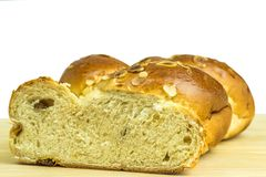 Braided yeast bun royalty free stock images