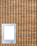 Braided yellow brown background of straw e-book Stock Photo
