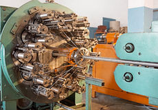Braiding machine closeup. Stock Photography