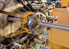 Braiding machine closeup. Royalty Free Stock Images