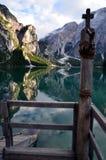 Braies意大利湖  库存图片