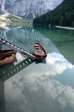 Braies意大利湖  库存照片