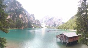 Braies and all its powerfull stock photo