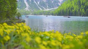 braies Di lago απόθεμα βίντεο