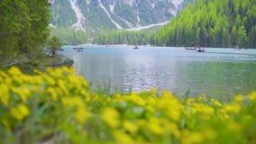 braies di lago сток-видео